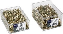 Musterbeutelklammern Gr.3/17mm Rundkopf, Kopfdurchmesser 7mm,VE = 1 Schachtel = 100 Stück