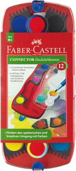 Faber Castell Farbkasten Connector, 12 Deckfarben