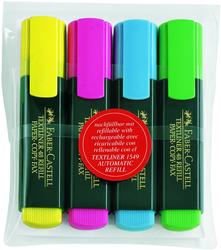 Textmarker/Textliner 48 Refill 1-5mm, 4er Etui, farbig sortiertEtui mit 4 Stück