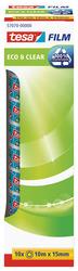10 x tesafilm eco&clear 10m x 15mm, lösungsmittelfreiVE = 1 Packung = 10 Stück