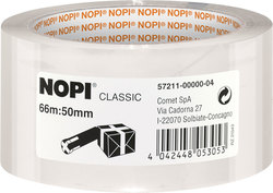 Packband Nopi-Pack, 66m x 50mm, transparent, PP