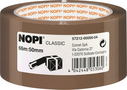 Packband Nopi-Pack 66m x 50mm, braun, PP