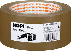 Packband Nopi-Pack, 66m x 50mm, braun, PVC