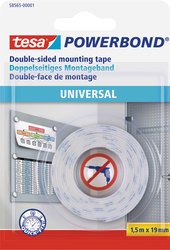 Powerbond Universal 1,5 m x 19 mm für leichte und flache Gegenstände.