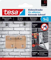 tesa Klebeschraube viereckig für Mauerwerk, je 5kg TragkraftVE = 1 Pack = 2 Stück