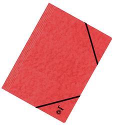 Dreiflügelmappe, A4, 250g/qm, rot
