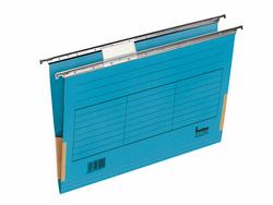 Hängemappe A4 mit Frosch blau 230g/qm Farbkarton, Beschriftungs-VE = 1 Pack = 5 Stück