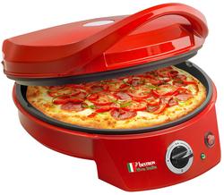 Pizza Ofen APZ400 rot, 1800W antihaftbeschichtet, Antirutschfüße
