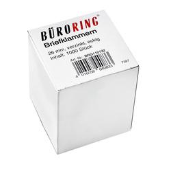 Büroring Briefklammern 26mm/1000 verzinkt spitz-eckigVE = 1 Schachtel = 1000 Stück