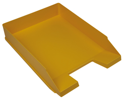 Büroring Briefkorb, gelb, versetzt stapelbar