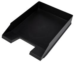 Büroring Briefkorb schwarz, versetzt stapelbar