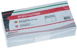 Briefumschlag DIN Lang, mit Fenster, Haftklebung weiß, 72gVE = 1 Packung = 100 Stück