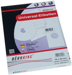 Büroring Etiketten, A4, 70 x 36mm, 2400 Etiketten1 Packung = 100 Blatt