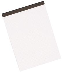 Büroring Notizblock, A6, 50 Blatt, kariert, weiß