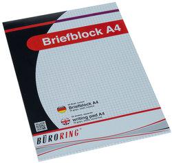 Büroring Briefblock A4/50 Blatt kariert, holzfrei, weiß