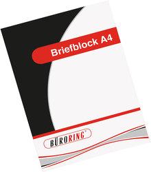 Büroring Briefblock, A4/50 Blatt, kariert,4-fach gelocht,