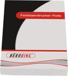 Büroring Folie A4 für Farblaser-Drucker1 Packung = 50 Blatt