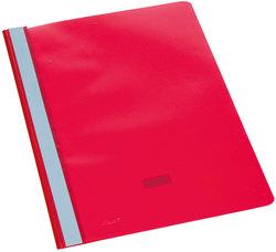 Büroring Schnellhefter, A4, rot PP-Folie, genarbter Deckel