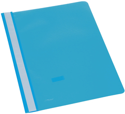 Büroring Schnellhefter, A4, hellblau PP-Folie, glasklarer Deckel