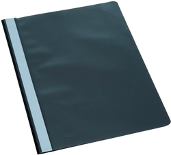 Büroring Schnellhefter, A4, schwarz PP-Folie, genarbter Deckel