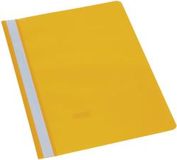 Büroring Schnellhefter, A4, gelb PP-Folie, glasklarer Deckel