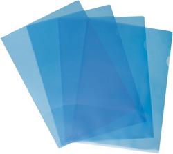 Büroring Aktenhüllen, genarbt, blau, Sichtmappe 120my, PP-FolieVE = 1 Packung = 100 Hüllen