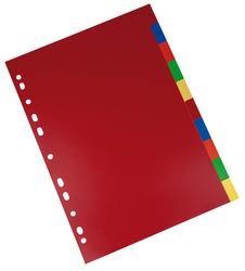 Büroring Register, A4, PP-Folie, 10-teilig, 2x5 Farben, 120 my