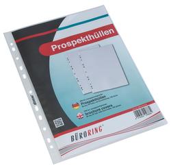 Büroring Prospekthülle, A4, PP-Folie, 80my, genarbtVE = 1 Packung = 100 Hüllen