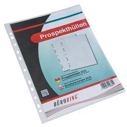 Prospekthülle A4 Eco, PP-Folie genarbt, ca. 50my, Eurolochung.VE = 1 Packung = 100 Hüllen
