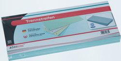 Büroring Trennstreifen blau 10,5x24cm, 190g/qm Karton, gelochtVE = 1 Packung = 100 Stück