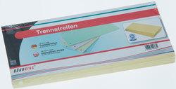 Büroring Trennstreifen gelb 10,5x24cm, 190g/qm Karton, gelochtVE = 1 Packung = 100 Stück