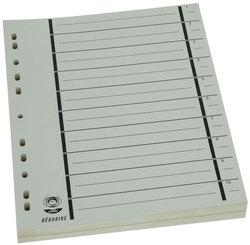 Büroring Trennblätter A4 chamois vollfarbig, schwarzer OrgadruckVE = 1 Packung = 100 Stück