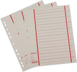 Büroring Trennblätter A4 rot chamois, farbiger OrgadruckVE = 1 Packung = 100 Stück