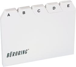 Büroring Leitkarten-Register A6 A-Z, PP-Folie, 25-teilig, grau