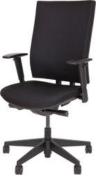 Bürodrehstuhl 5070 schwarz gepolsterte Rückenlehne, Komfortsitz