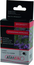 Dual Pack schwarz für Canon PIXMA iP4850, iP4950, MG5150, MG52501 VE = 1 Packung á 2 Tintenpatronen
