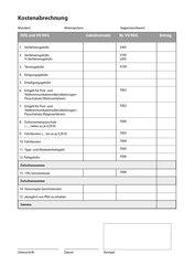 Abrechnungsbogen, A4 hoch, grün, gelocht, 100 Blatt im Block