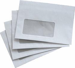 Büroring Briefumschlag, C6, mit Fenster Selbstklebend, weiß, 75gVE = 1 Karton = 1000 Stück