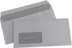 Briefumschlag, FCSC, DIN Lang, Haft- klebung mit Fenster, weiß, 80g, mitVE = 1 Karton = 1000 Stück