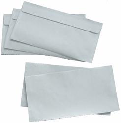 Briefumschlag, DIN Lang, Haftklebung, weiß, 80g, mit grauen InndendruckVE = 1 Karton = 1000 Stück