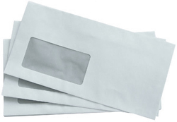 Briefumschlag, DIN Lang, mit Fenster Selbstklebend, weiß, 75gVE = 1 Karton = 1000 Stück