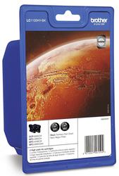 Tintenpatronen schwarz LC-1100HYBK high Capacity für MFC-6490CW1 VE = 1 Pack á 2 Tintenpatronen