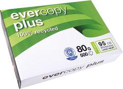 evercopy Recycling Papier A4 ws 80g Weiße 90 CIE f. Laser-, InkjetdruckerVE = 1 Packung = 500 Blatt