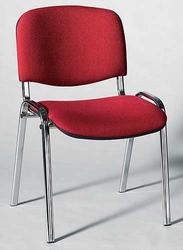 Besucherstuhl mit Chromgestell, bor- deaux gepolsterte Sitz- und Rückfl.VE = 4 Stück = 1 Karton