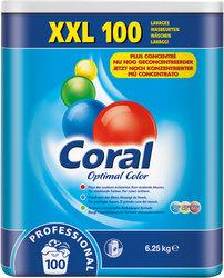 Waschpulver Fein- und Buntwaschmittel Coral Prof. Optimal Color 100 WäschenVE = 1 Karton = 6,25 kg