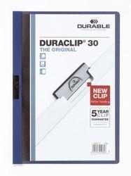 Klemmmappe für 30 Blatt dunkelblau Duraclip Original 30