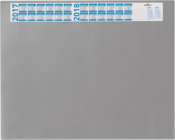 Schreibunterlage grau 65x52cm mit transparenten Abdeckung