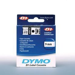 Schriftband 9mm/7m, DYMO 40913, schwarz auf weiß