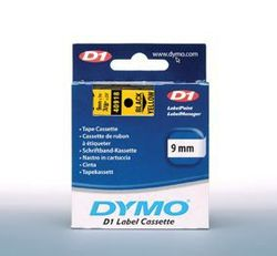 Schriftband 9mm/7m, DYMO 40918, schwarz auf gelb