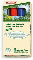 Boardmarker 4er-Set 28 Rund 1,5-3mm nachfüllbar mit edding BTK25